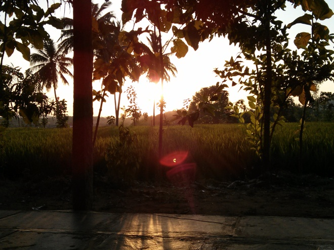 Sunset at Shanti hotel