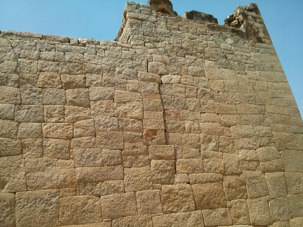 Stone wall up close